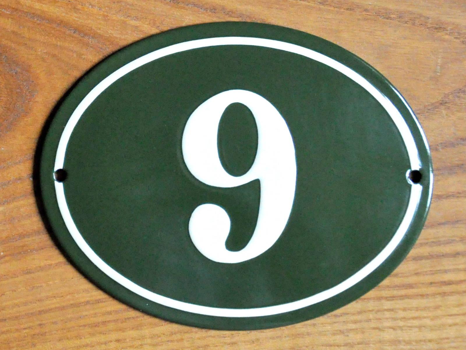 140×110 Mm Oval,  Grøn/Hvid