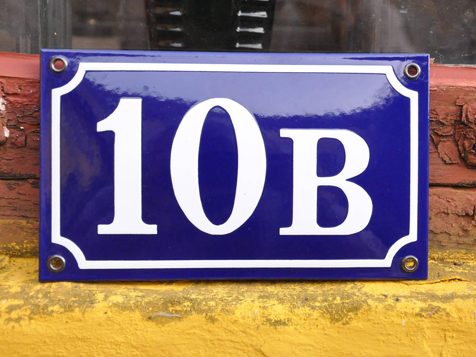 170×100 Mm, Blå/Hvid, På Lager Nr. 10B-50B