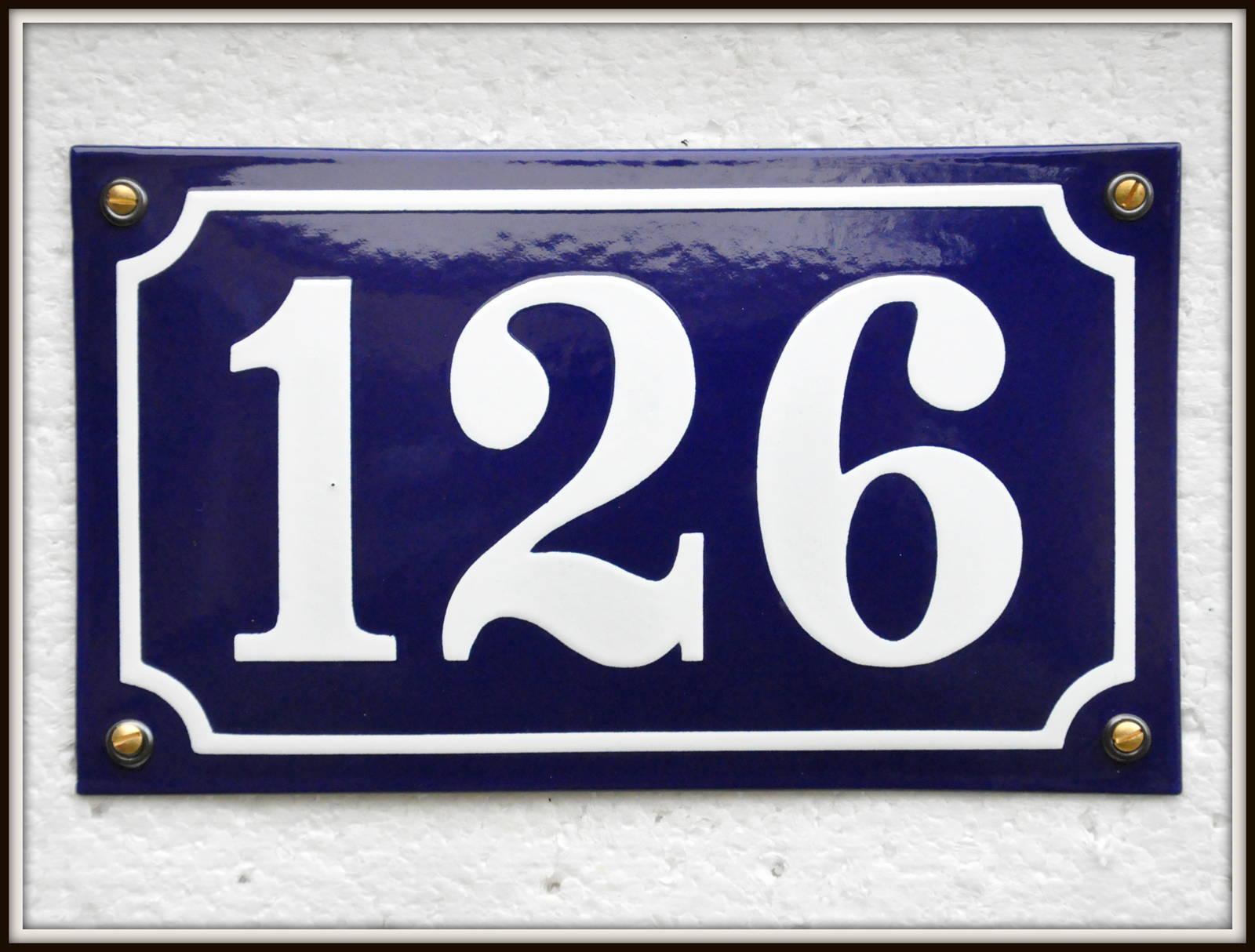 170×100 Mm, Blå/Hvid, På Lager Nr. 100-200