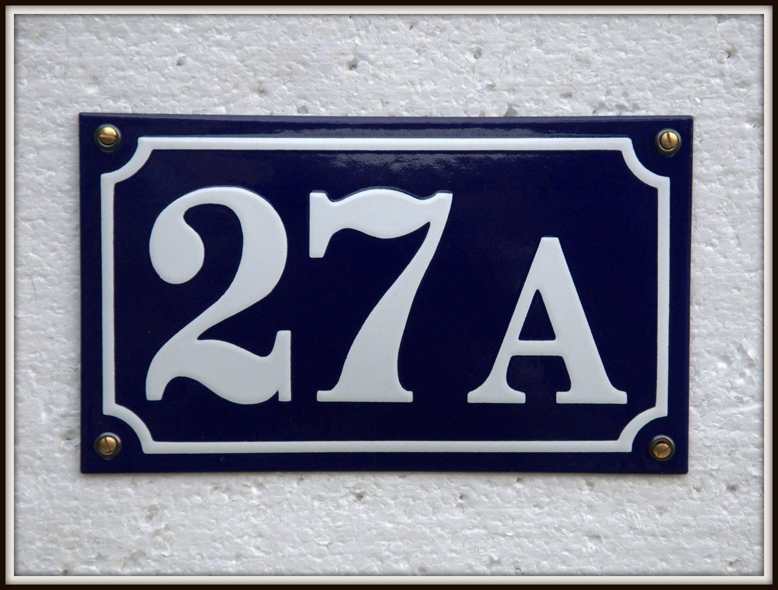 170×100 Mm, Blå/Hvid, På Lager Nr. 10A-50A